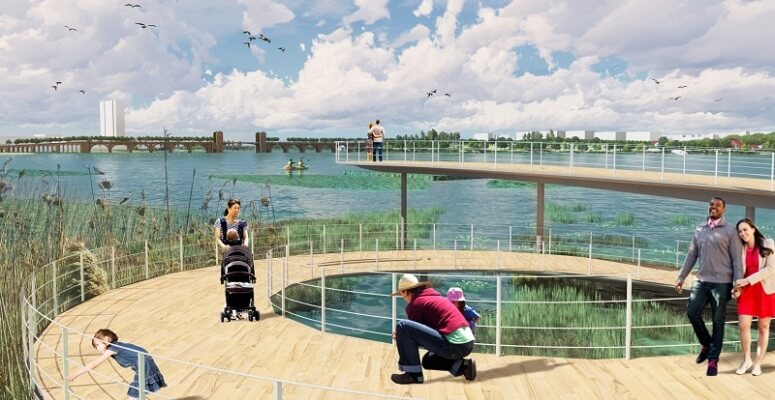 West 8 wins Baltimore Middle Branch Waterfront Revitalization competition